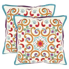 """2-Pack Stitched Moroccan Paradise Toss Pillows (18x18"""")  hmmmm like these too"""