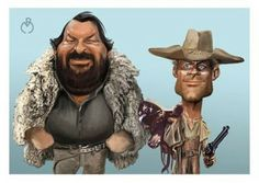 BUD SPENCER & TERENCE HILL #caricature
