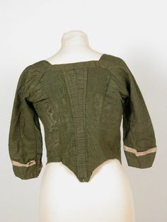 Bodice National Trust Inventory Number 1361213 CategoryCostume Date1770 MaterialsMoire silk CollectionKillerton, Devon (Accredited Museum)