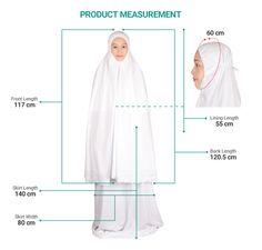 Siti Khadijah Telekung Melati Klasik Tudung Shawl, Muslim Dress, Muslim Fashion, Hijab Fashion, Sewing Tutorials, Sewing Projects, Sewing Patterns, Pola Baju Anak, Niqab