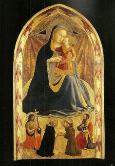 La Vierge d'Humilité, par Fra Angelico