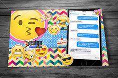 Emoji Theme Birthday Invitation
