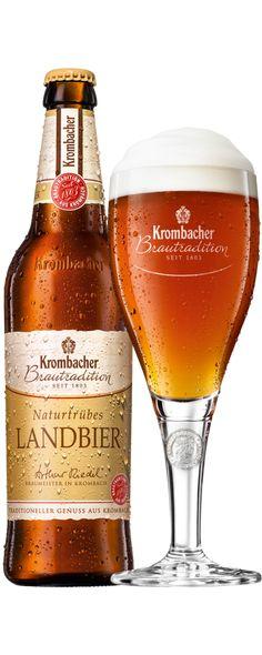 Naturtrübes Landbier | Krombacher Fun Drinks, Alcoholic Drinks, Beer Club, Beers Of The World, Natural Preservatives, German Beer, Beer Label, Wine And Beer, Bottle Design