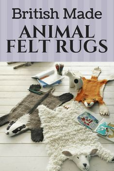 Keep your toes warm with these soft and cute animal felt rugs. Available in several designs! #ad
