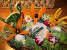 Fruit Carving, Vegetable Carving, Garnishes and Edible Arrangements: Custom Fruit Carving and Edible Vegetable Arrangement