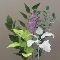 Crepe Paper Greenery, Single Stem - Lemon Leaf, Israeli or Italian Ruscus, Baby Eucalyptus, Dusty Miller, or Lavender by NectarHollow on Etsy https://www.etsy.com/listing/387346480/crepe-paper-greenery-single-stem-lemon
