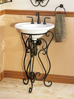 Wrought Iron vanities are available in a variety of design styles from rustic to…