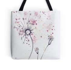 'Dandelion Spray' Tote Bag by Painted Canvas Bags, Hijab Bride, Wedding Hijab, Wedding Dresses, Fashion Bags, Abaya Fashion, Sharpie Art, Nigerian Weddings, African Weddings