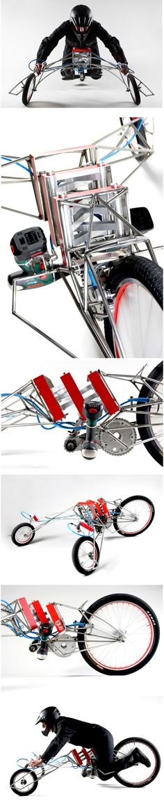 """Screwdriver-Powered Vehicle """"EX"""" :: by Nils Ferber"""