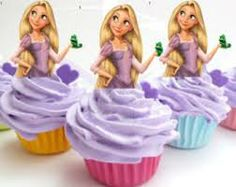 free printable tangled cupcake toppers - Google Search
