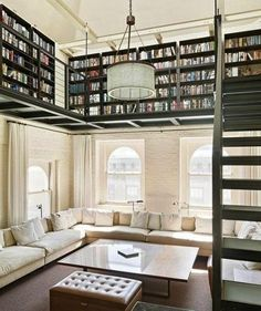 Home Library Ideas this is absolutely gorgeous and I NEED this. Like or else I will die!