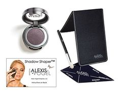 Best Eyeshadow Makeup Kit for Flawless Eye Makeup Application  Alexis Vogel Shadow Shaper Kit  Includes Shadow Shaper Eye Shadow Stencil Mulberry Shimmer Eyeshadow and Seamless Eye Shadow Brush  Easily Create Perfect Smokey Eyes and 3 Other Eyeshadow Looks  Patented Eyeshadow Stencil Developed and Used by Celebrity Makeup Artist -- To view further for this item, visit the image link.