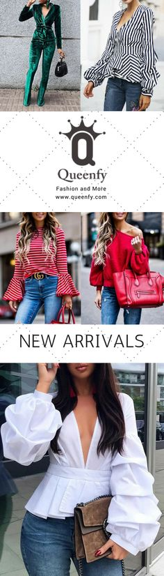 Queenfy Spring Fashion Tops & Outfits