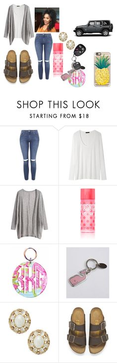 """""""Untitled #543"""" by chanel-xoxo123 on Polyvore featuring Topshop, The Row, Victoria's Secret, Lilly Pulitzer, Vineyard Vines, Kate Spade, Birkenstock, Wrangler and Casetify"""