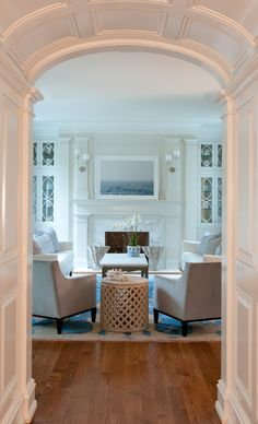 Gorgeous architectural detailing on the doorway -   House of Turquoise:  Nightingale Design + Jane Beiles Photography