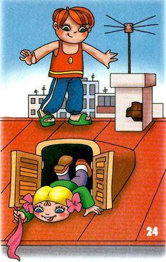 chôdza po streche a nakláňanie sa z okna