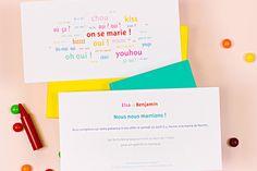 faire-part de mariage dis-moi oui ! by Marion Bizet - www.Rosemood.fr
