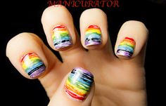 manicurator: April Showers Bring May Flowers - Rainbow!