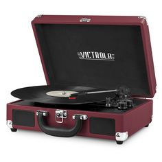 Innovative Technology Victrola Bluetooth Suitcase Record Player - Enjoy your classic vinyl anywhere with this portable record player from Innovative Technology. It's Bluetooth compatible for use with contemporary speakers. Suitcase Record Player, Portable Record Player, Vinyl Record Player, Record Players, Vinyl Records, Victrola Record Player, Built In Speakers, Stereo Speakers, Bluetooth Speakers