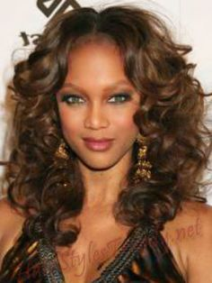 Here are Long hairstyles for Black Women Ideas: Curly Long Hairstyles For Black Women #prom