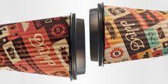 sleeveless hot coffee paper cup designed for Dripp Coffee Bar by Salih Kucukaga Hot Coffee, Coffee Shop, Coffee Cups, Coffee Packaging, Brand Packaging, Paper Cup Design, Take Away Coffee Cup, Coffee Cup Design, Coffee Sleeve