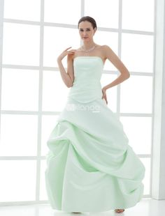 Strapless Ball Gown Satin Mother Of Bride And Groom Dress. This mother of bride and goom dress features its strapless design.Ruched bottom forms the ball gown silhouette and floor length style.. See More Mother of the Bride Dresses at http://www.ourgreatshop.com/Mother-of-the-Bride-Dresses-C928.aspx