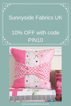 Get 10% OFF at Sunnyside Fabrics UK with our exclusive Pinterest Discount Code PIN10 Pattern Blocks, Quilt Patterns, Handmade Products, Handmade Items, Hobbies To Pick Up, Zipper Tutorial, Craft Stalls, Carpet Bag, Sewing Box