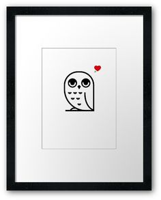Say hello to our new owl design! High quality print available on 56 products. Where Is Your Heart, Love S, Say Hello, Owl, Sayings, Design, Products, Lyrics, Owls
