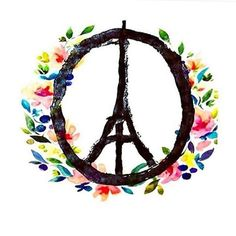 Pray for Paris. this would be cool as a tattoo for a Paris lover. Pray For Paris, Paris Love, Gustave Eiffel, Pray For Peace, Peace And Love, My Love, Hans Christian, Attentat Paris, Illustration Parisienne