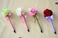 Diy Flowers, Paper Flowers, Creema, Diy For Kids, Making Ideas, Envelope, How To Make Money, Stationery, Hair Accessories
