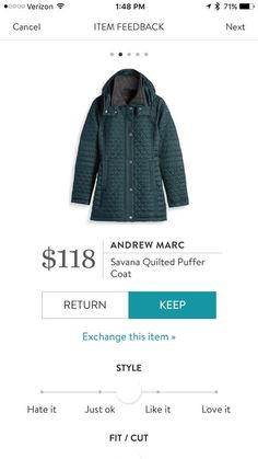 Andrew Marc Savana Quilted Puffer Coat