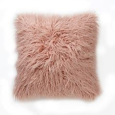 Briscoes - Fieldcrest Faux Mongolian Sheepskin Cushion 45cm x 45cm