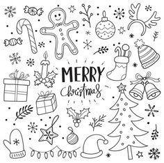 christmas doodles Weihnachten doodles p - Merry Christmas Wallpaper, Merry Christmas Quotes, Christmas Doodles, Christmas Drawing, Christmas Signs, Christmas Art, Christmas Decorations, Hygge Christmas, Winter Christmas