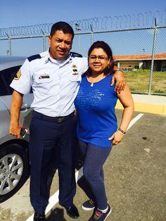 Con mi hermano en la Base Naval de Río Hato - Panamá