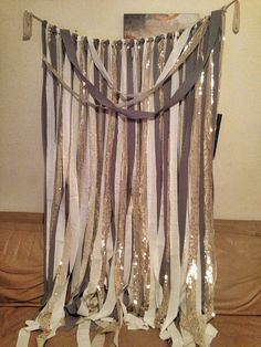 Sequined gold sharkskin gray and ivory party by RusticWeddingLove, $70.00