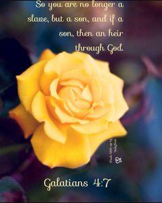 So you are no longer a slave, but a son, and if a son, then an heir through God. (Galatians 4:7 ESV)
