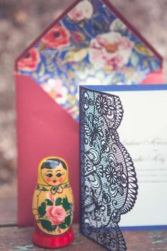 Russian wedding invitations ⎪Kusjka du Plessis Photography ⎪ see more on: http://burnettsboards.com/2015/09/russian-wedding-inspiration-nesting-dolls/