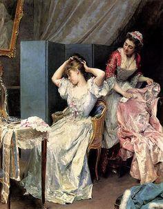 Raimundo de Madrazo y Garreta - La Toilette (1885)