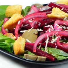 #recipe #food #cooking Nicoles Balsamic Beet and Fresh Spinach Salad food-and-drink