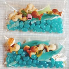 Under the Sea party favors. Can use for Octonauts birthday party Little Mermaid Birthday, Little Mermaid Parties, The Little Mermaid Story, Mermaid Theme Birthday, Octonauts Party, 3rd Birthday Parties, Birthday Ideas, 2nd Birthday, Moana Birthday Party Ideas