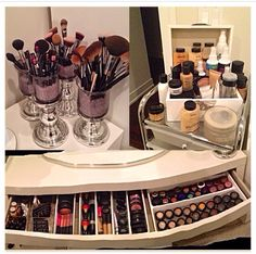 Organizing some of my makeup Woman Cave- Makeup room -Cosmetics