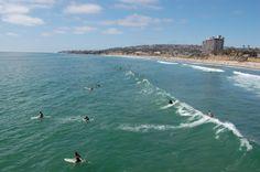 surfers at Pacific Beach   San Diego