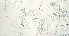 """John Cage ,CHANGES AND DISAPPEARANCES,  color etchings with photoetching, engraving and drypoint in two impressions each, 11 x 22"""""""