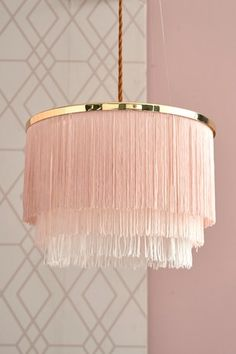 Buy Lipsy Clarissa Easy Fit Pendant from the Next UK online shop Diy Crafts For Home Decor, Diy Crafts Hacks, Pink Lamp Shade, Diy Light Shade, Lamp Shades, Luminaire Original, Feather Lamp, Diy Chandelier, Macrame Design