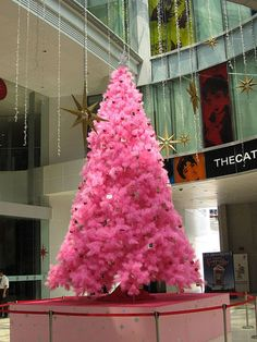 I had a pink flocked tree once..it was awesome and not quite this dark....more like cotton candy!