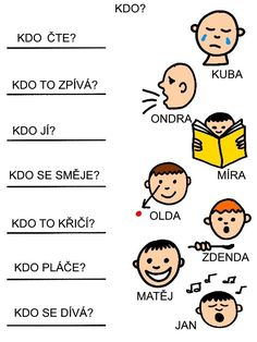 Čtení s porozuměním Elementary Schools, Jena, Montessori, Worksheets, Activities For Kids, Kindergarten, Homeschool, Language, Teaching