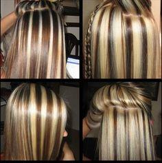 Very interesting highlights Ash Blonde Highlights On Dark Hair, Hair Highlights And Lowlights, Brown Blonde Hair, Hair Color Highlights, Hidden Hair Color, Cool Hair Color, Hair Colors, Medium Hair Styles, Short Hair Styles