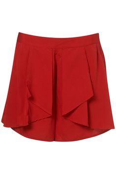 Topshop  Waterfall drape shorts  £34.00