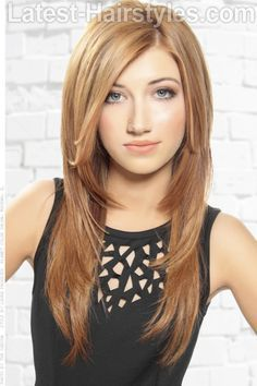 layered straight hairstyles long hair - Google Search