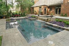 Portfolio page for Atlantis Pools Tulsa Oklahoma inground in ground swimming pool pools builder contractor
